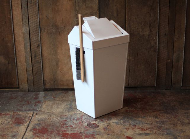 Simple Genius: A Trash Can With A Built-In Dustpan And Brush | Co.Design: business + innovation + design
