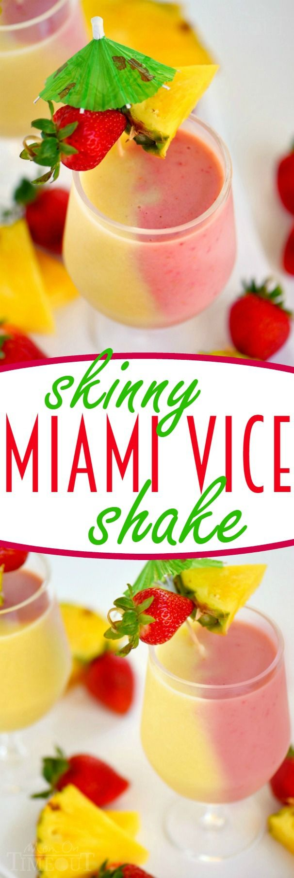 When the weather gets hot, turn to this Skinny Miami Vice Shake to cool off! And because you know your kids are going to want in on the action - I've included a kid-friendly version too!