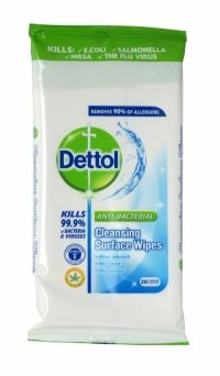 Dettol Anti-Bacterial Cleansing Surface Wipes 20 Pack Dettol Complete Clean Multi Action Wipes clean the dirt you can see and the germs you can't. The triple action formula provides 3x cleaning power, for a complete clean every time Penetrates and loosens kitchen grease, burnt on food and