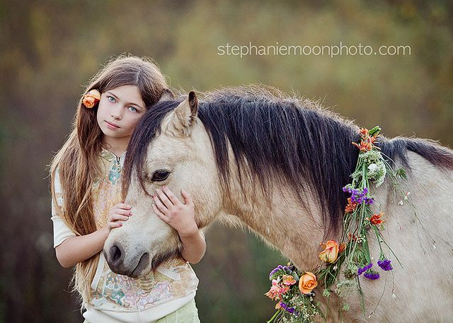 Girl with Pony by Stephanie Moon Photography. www.stephaniemoonphoto.com
