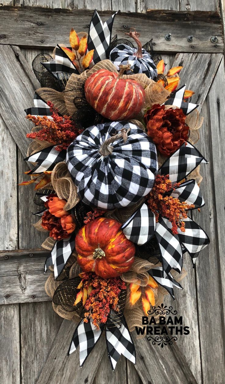 Excited to share this item from my #etsy shop: Fall Wreath, Fall Swag, Autumn Sw…