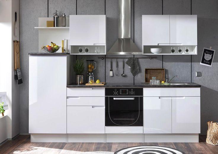 Küchenblock mit weißer hochglanzfront stauraum für töpfe pfannen und co ✓ 30 tage rückgaberecht ➤ jetzt online bei xxxlutz bestellen