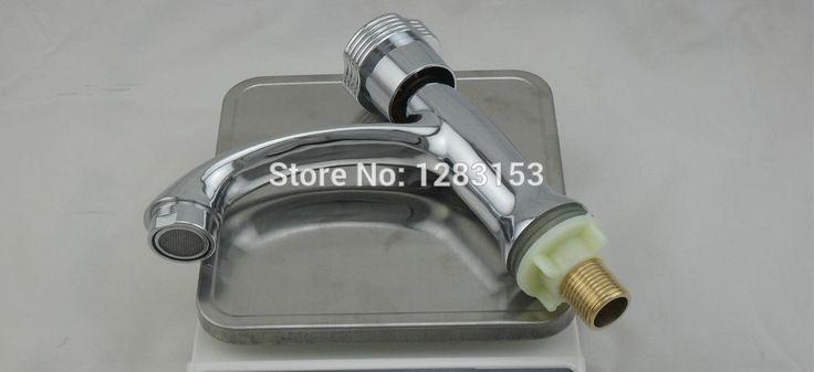 free shipping wash basin tap single hole tap waterfall basin cepillado sink faucet bathroom water tap 1/2inch