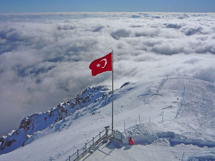 Turkish Flag at Mount Tahtali