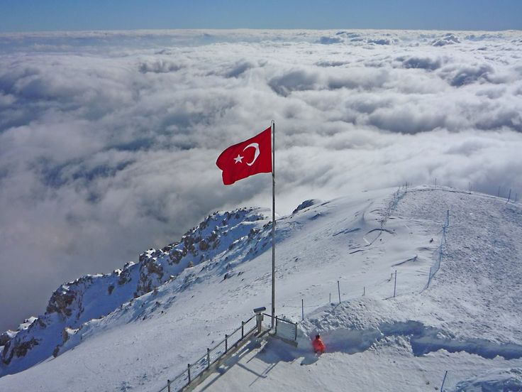 Turkish Flag at Mount Tahtali