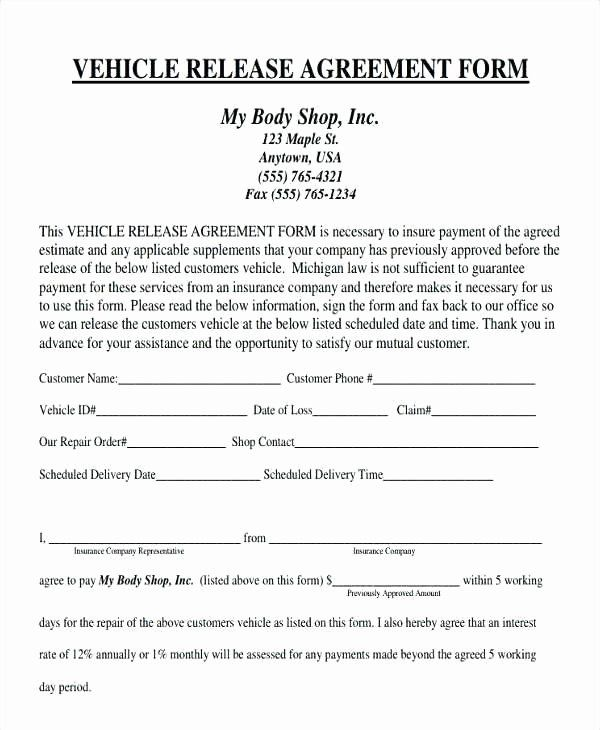 Repair Authorization Form Template Elegant Vehicle Service Agreement Template Auto Body Invoice Template Word Spreadsheet Template Business Cash Flow Statement