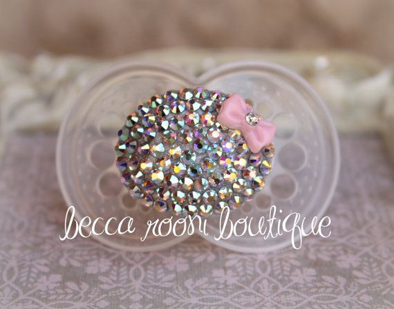 Baby Bling Pacifier Rhinestone MAM Pacifier Dummy by BeccaRooni, $17.00