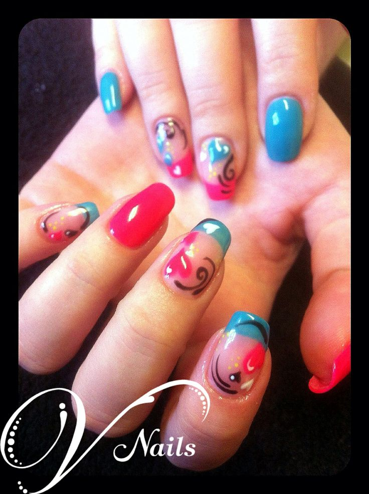 16 best gelish nail art designs freehand by v nails images on freehand gelish nail art v nails prinsesfo Images