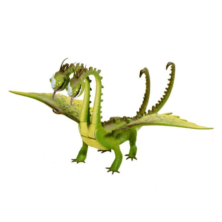 Amazon.com: DreamWorks Dragons Defenders of Berk - Action Dragon Figure - Belch & Barf Zippleback: Toys & Games