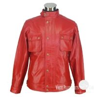 Red leather jacket -original Sheep Nappa leather