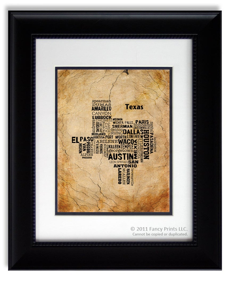 Christmas Gift For Him Cities Of Texas State Texas Map