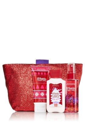 winter candy apple sparkle shine gift set signature collection bath body works