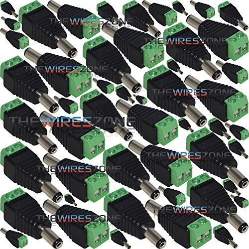530110 CCTV BNC Connector w/ Female to Male DC Screw for Security Camera (50/pk)