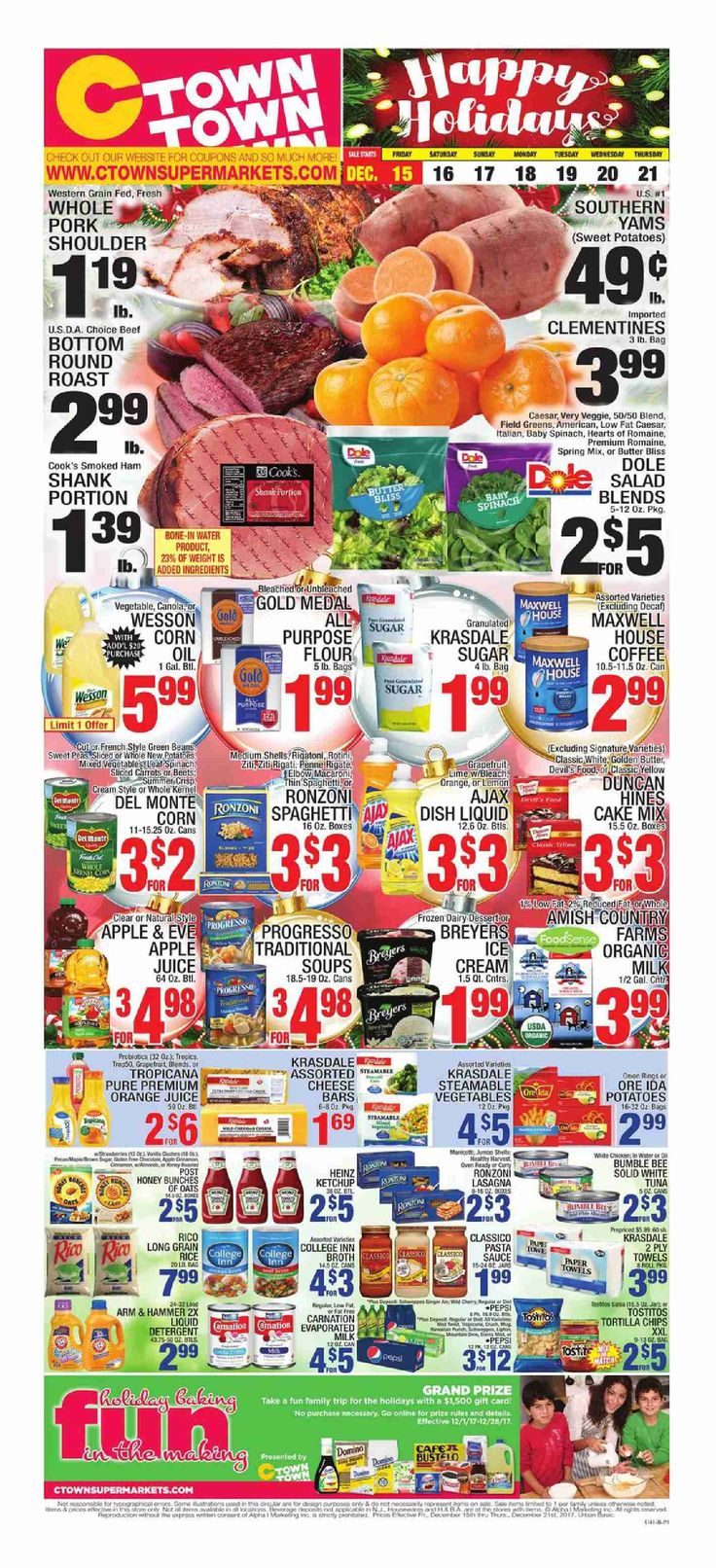 Ctown Weekly Circular Flyer December 15 – 21, 2017 – Ctown, Grocery weekly ad comes on the scene almost each week but quite often people the Ctown, Grocery ad and perhaps they are quick to throw it out. Checking the ads each and every week and clipping your coupons that can come inside the weekly circular ad can sometimes be an exceptionally rewarding experience. Ctown, Grocery regularly includes coupons which will equate his almost as much as 50% off your purchas