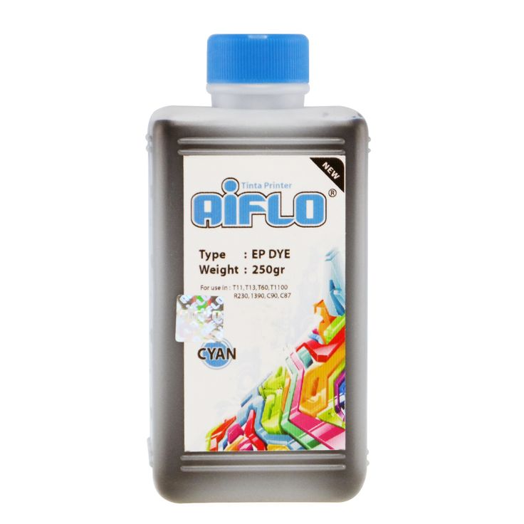 Tinta Printer Aiflo Light Cyan 250ml Untuk Epson 1390 T60 T1100 T13 - http://connexindo.com/tinta-printer-aiflo-light-cyan-250ml-untuk-epson-1390-t60-t1100-t13.html