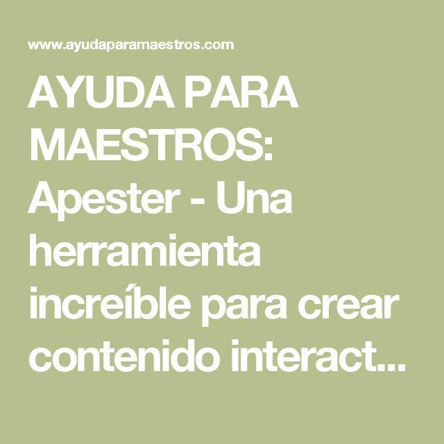 AYUDA PARA MAESTROS: Apester - Una herramienta increíble para crear contenido interactivo para nuestro blog o web