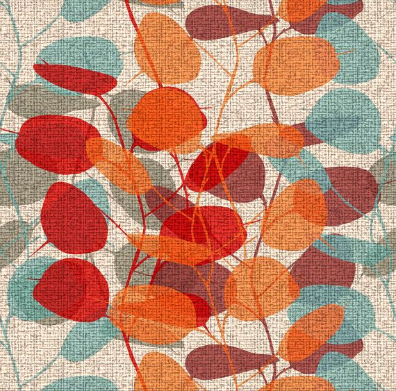 Mid Century Modern Fabric - Lunaria On A Fall Day By Chicca Besso - Modern Home Decor Cotton Fabric By The Yard With Spoonflower