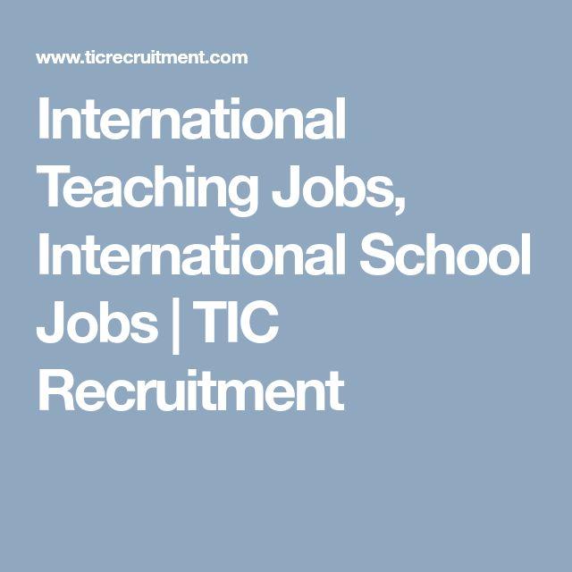 International Teaching Jobs, International School Jobs | TIC Recruitment