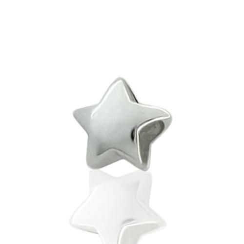 Engravable Star 925 Sterling Silver Star Bead Pandora Oriana Compatible