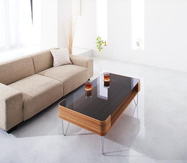 おしゃれ曲げ木ガラステーブル【Soffy】|ワンルーム、6畳からの ...