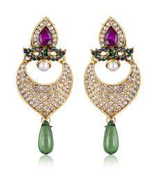 Buy Gorgeous Green And Purple Designer Earrings ER danglers-drop online