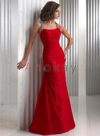Neckholder Perlenstickerei A Line Abendkleider PMS1305456