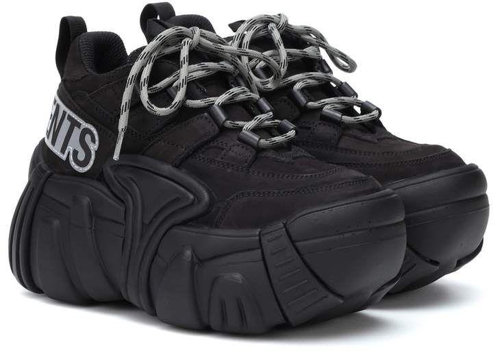 x SWEAR nubuck platform sneakers