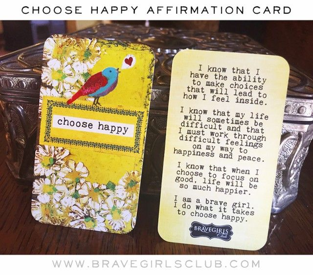 how to choose an affirmation
