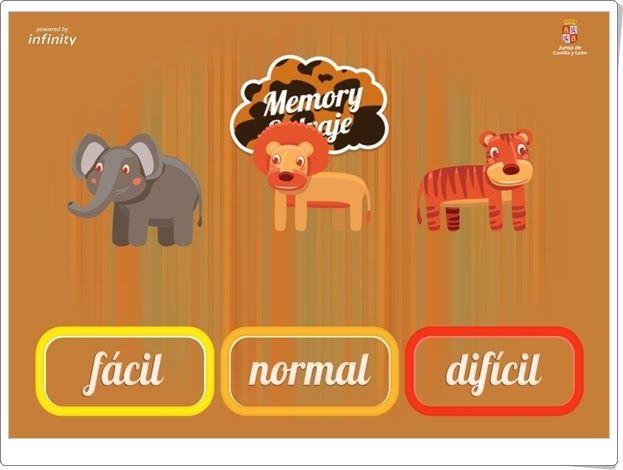 """""""Memory salvaje"""" (Juego de Verano de Infantil)"""