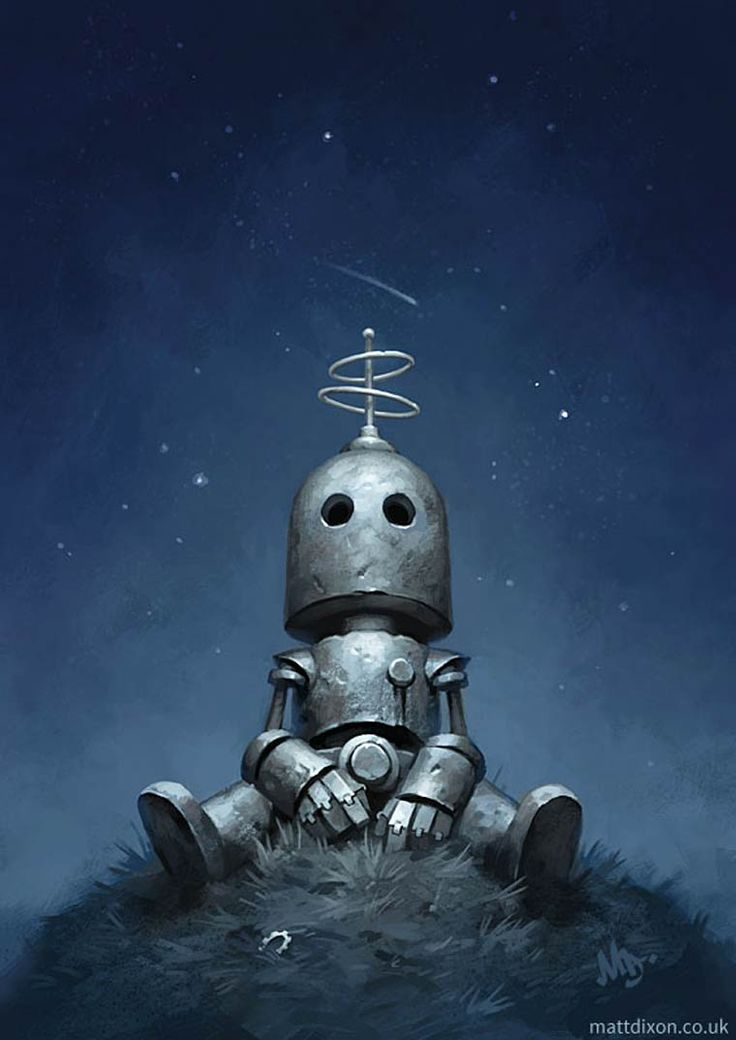 With his Transmissions series, the British illustrator Matt Dixon portrays some adorable little robots into soft and poetic compositions, but tinted with sadness, loneliness and nostalgia.
