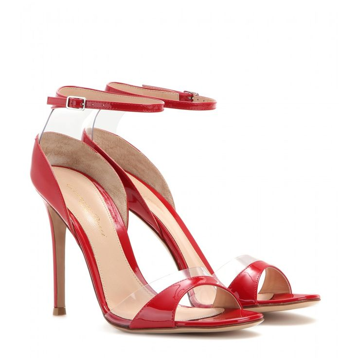 Gianvito Rossi - Patent leather sandals - These Gianvito Rossi sandals strike the right balance of statement and sophistication. We love the vibrant red, which plays off the transparent inserts for a cool, contemporary look. The silhouette is sleek and the heel pin-thin. These are a perfect option to bring your LBD to life. seen @ www.mytheresa.com