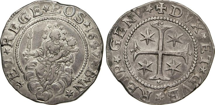 NumisBids: Numismatica Varesi s.a.s. Auction 65, Lot 395 : GENOVA - DOGI BIENNALI, III fase (1637-1797) Mezzo Scudo 1647,...