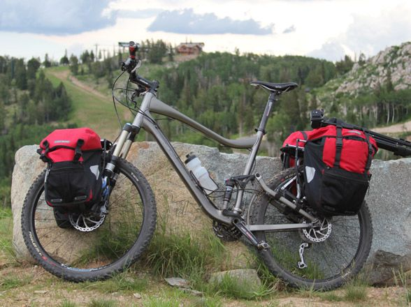 Pack-Too-Much Loaded touring bicycle