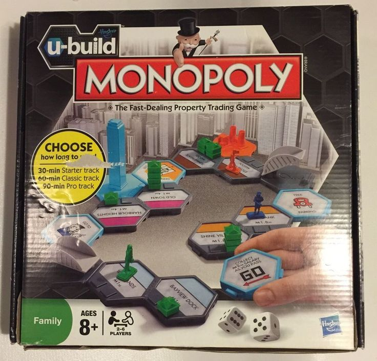U-Build Monopoly Family Board Game by Hasbro ~ New #Hasbro