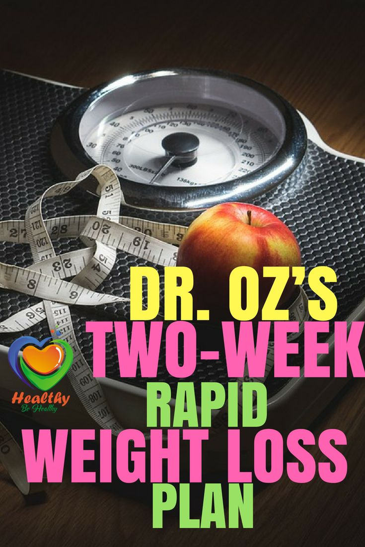 DR. OZ'S TWO-WEEK RAPID WEIGHT LOSS PLAN