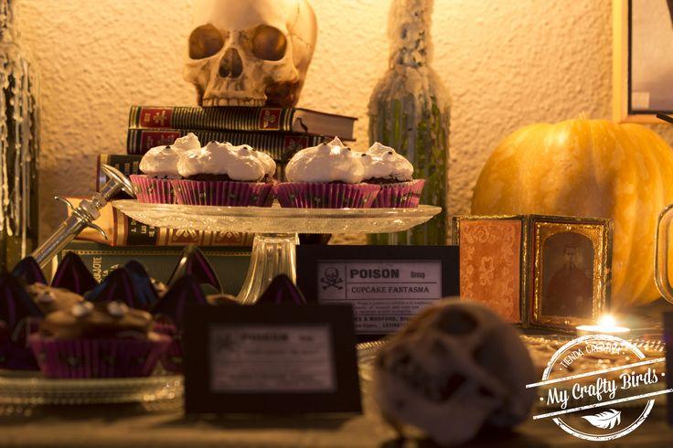 Decoración y recetas para preparar una mesa dulce temática de Halloween
