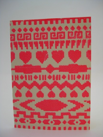 Screen Printed Navajo Pattern card. $3.00, via Etsy.