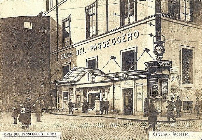 Foto storiche di Roma - Via del Viminale - Casa del Passeggero