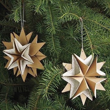 six point star ornamentStars Ornaments, Paper Stars, Point Stars, Diy Stars