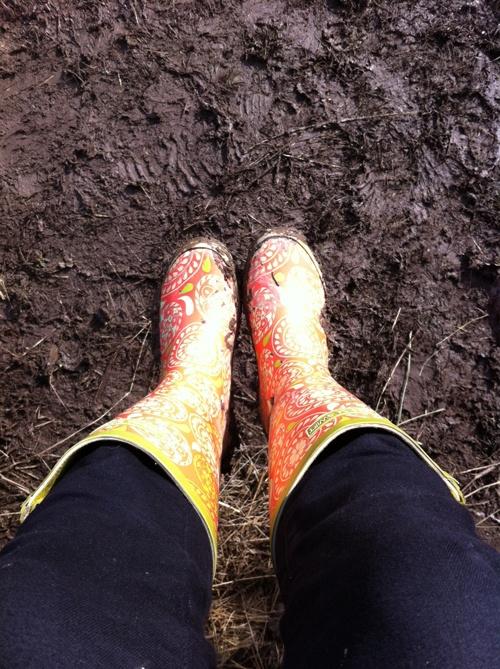 Jessica Swift Ennika rain boots take on the mud! http://www.jessicaswift.com/rain-boots