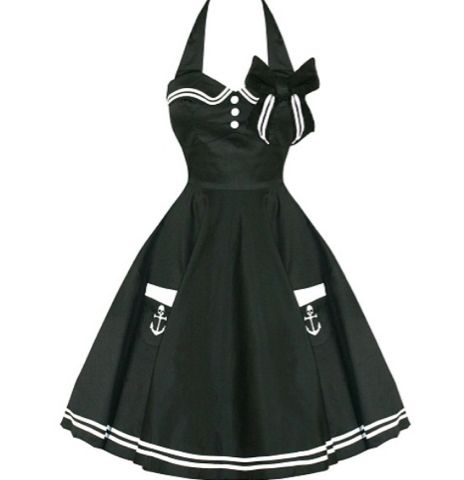 Hell Bunny sailor pin up dress|  Rockabilly bridesmaid idea