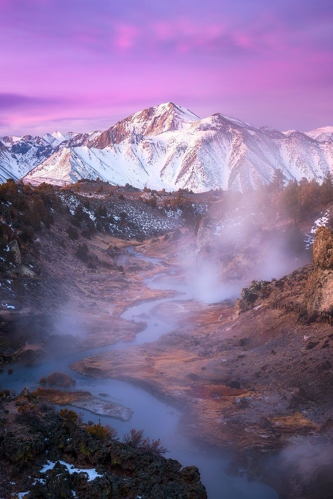 Hot Creek, Sierra Nevada (California) by Daniel F. on 500px