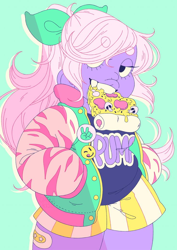 amethyst wearing Galaxxxy inspired clothes!!!! ft. pizza patreon