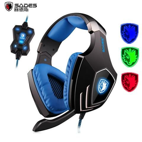 Sades A60 - 7.1 Vibration Surround Sound Pro Gaming Headphones With Xhammer 4D physical vibration,...