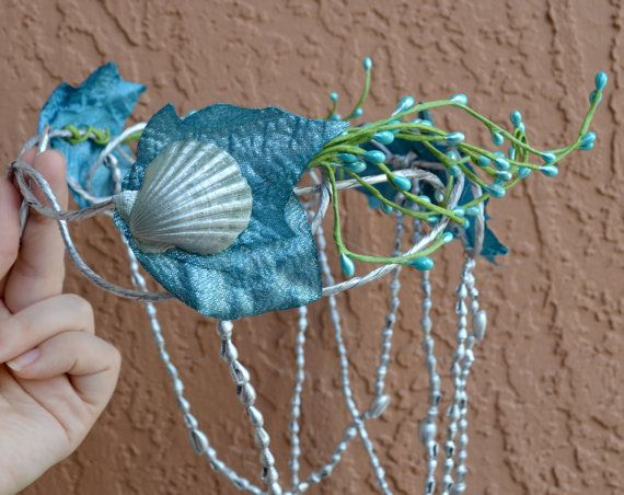 Water nymph headpiece mermaid crown by Frecklesfairychest on Etsy, $50.00