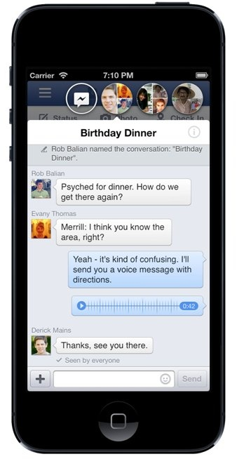 Facebook App Chat Heads