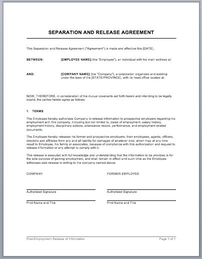 Encouraging Savings In Your Marriage - release agreement