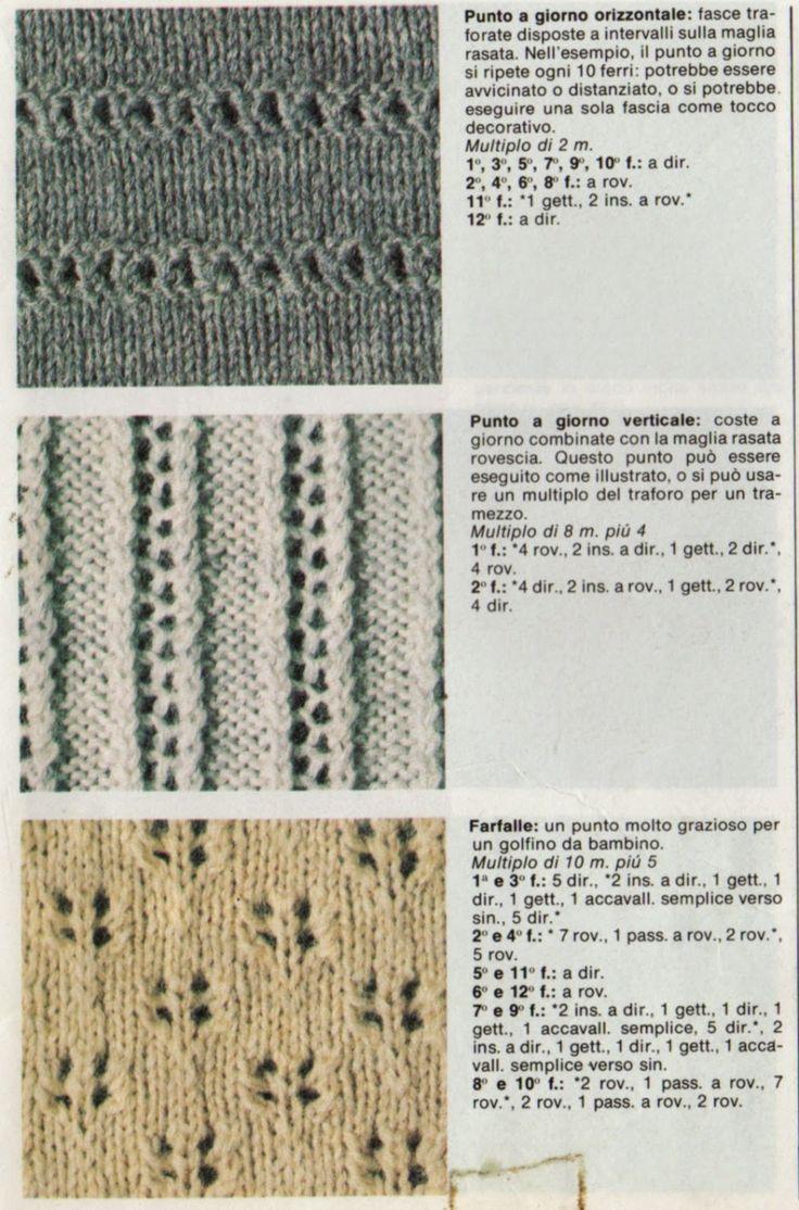 Professione Donna: I punti del lavoro a maglia: I punti traforati