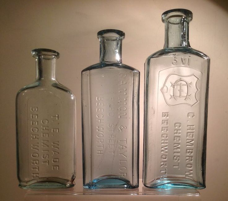 C19 chemists bottles