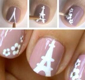 cool! I have never thought of doing this to my nails. it looks easy! very cute.